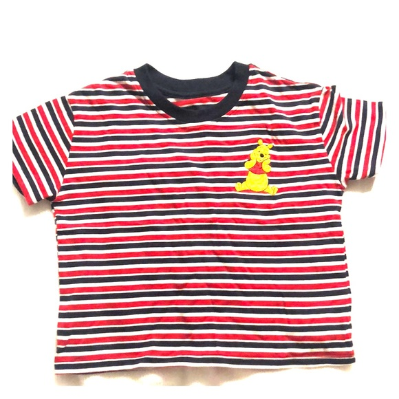 Forever 21 Tops - Crop top of Winnie the Pooh with stripes